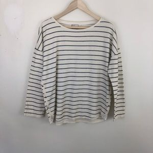 Anthropologie Postmark Striped Top Size Large